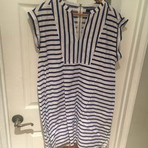 J Crew Striped Sleeveless Tunic Dress